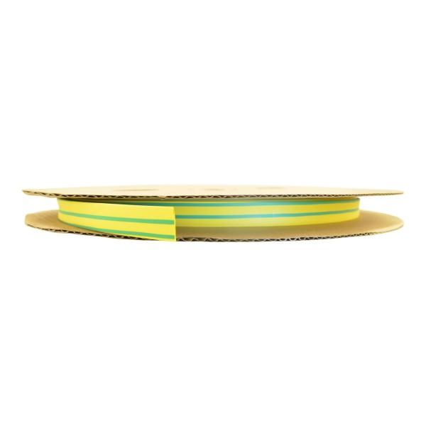 Schrumpfschlauch Isolierschlauch 2:1 (D=6,4mm/d=3,2mm) Gelb Grün, Länge 75 m auf praktischer Spule