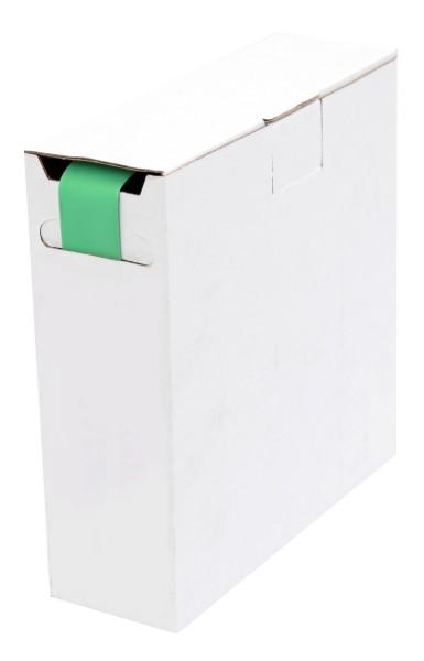 Schrumpfschlauch Isolierschlauch 2:1 (D=12,7mm/d=6,4mm) Länge 8 m Grün in praktischer Spender Box