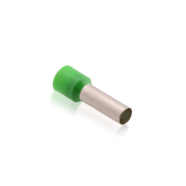 Aderendhülsen isoliert mit Kunststoffkragen DIN 6,00mm² Hülsenlänge 18,0mm Grün