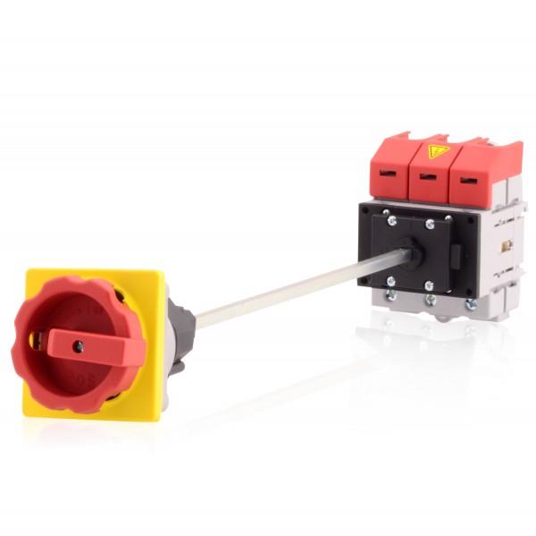 Hauptschalter Lasttrennschalter 3-polig 32A Bodenbefestigung Achsverlängerung Not-Aus-Schalter Prem