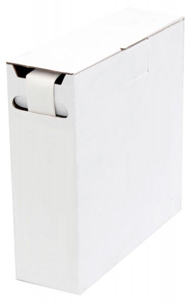 Schrumpfschlauch Isolierschlauch 2:1 (D=6,4mm/d=3,2mm) Länge 12 m Weiß in praktischer Spender Box