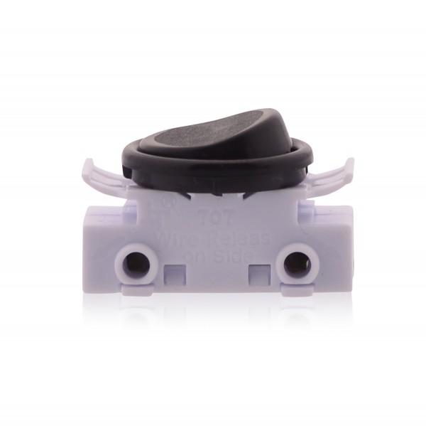 Kippschalter Lichtschalter An Aus Schalter 2A 250V Lampenschalter Ersatzschalter für Lampen in schwarz