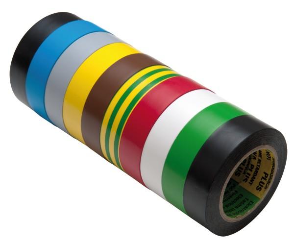 Isolierband 10 Rollen Länge: 10m Breite: 15mm verschiedene Farben Isotape