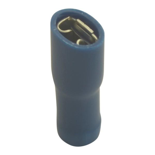 Flachsteckhülsen vollisoliert Kabelschuhe Breite:4,8mm, Steckdicke:0,5mm, Nenngröße:2,5mm², Blau
