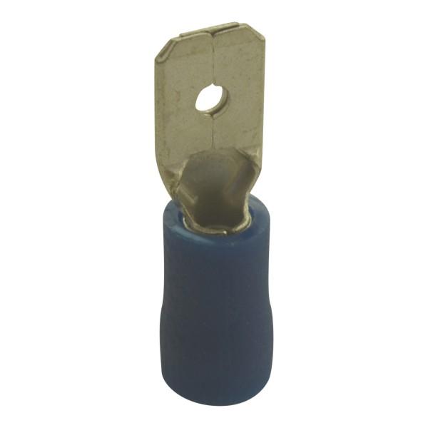 Flachstecker Kabelschuhe Breite:4,8mm, Steckdicke:0,8mm, Nenngröße:2,5mm², Blau