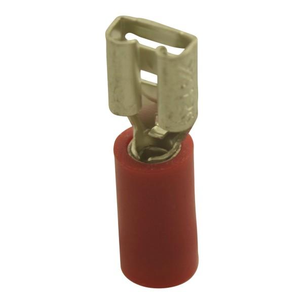 Flachsteckhülsen Kabelschuhe Breite:2,8mm, Steckdicke:0,5mm, Nenngröße:1mm², Rot