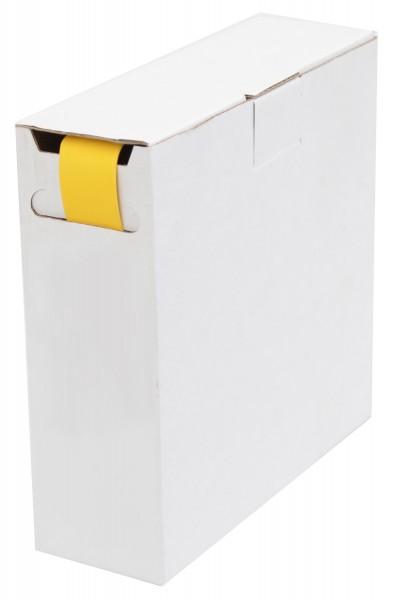 Schrumpfschlauch Isolierschlauch 2:1 (D=12,7mm/d=6,4mm) Länge 8 m Gelb in praktischer Spender Box