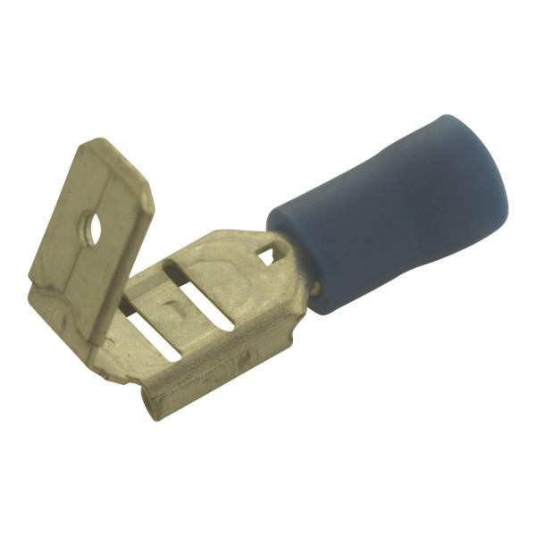 Flachsteckhülsen mit Abzweig Kabelschuhe Breite:6,3mm, Steckdicke:0,8mm, Nenngröße:2,5mm², Blau