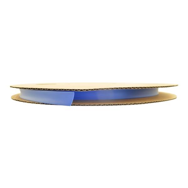 Schrumpfschlauch Isolierschlauch 2:1 (D=12,7mm/d=6,4mm) in Blau, Länge 75 m auf praktischer Spule