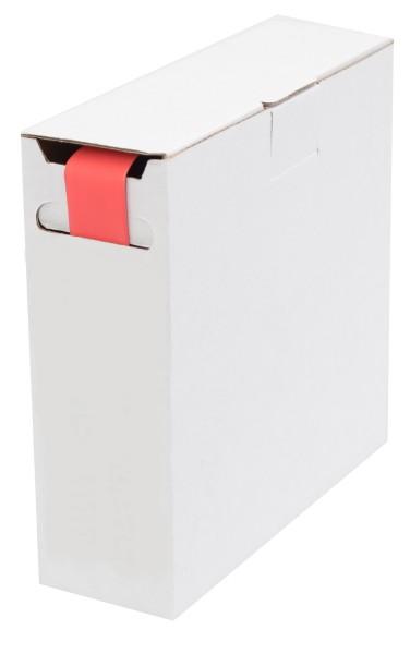Schrumpfschlauch Isolierschlauch 2:1 (D=12,7mm/d=6,4mm) Länge 8 m Rot in praktischer Spender Box
