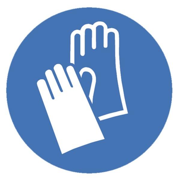 Gebotszeichen Handschutz benutzen Sicherheitsschild Warnschild 200mm aus selbstklebendem PVC Betrieb