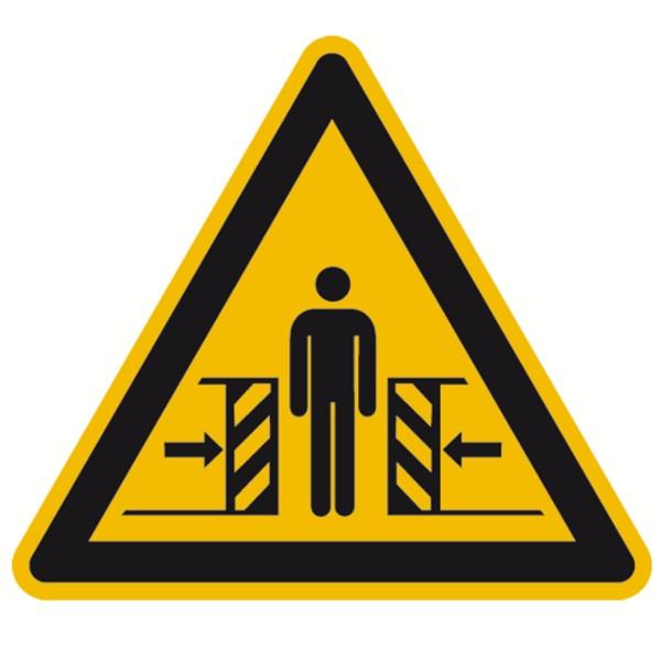Warnzeichen Warnung vor Quetschgefahr Sicherheitsschild Warnschild 100mm aus selbstklebendem PVC Bet