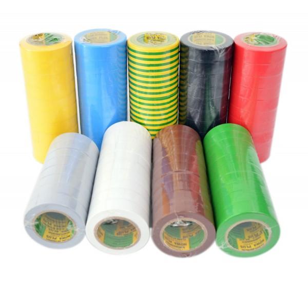 Isolierband 100 Rollen Länge: 10m Breite: 15mm verschiedene Farben Isoband