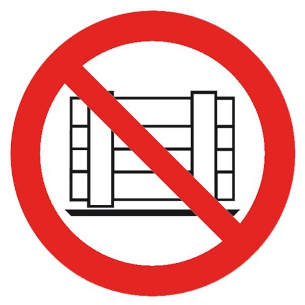 Verbotszeichen Nichts versperren Sicherheitsschild Verbotsschild 100mm aus selbstklebendem PVC Betr