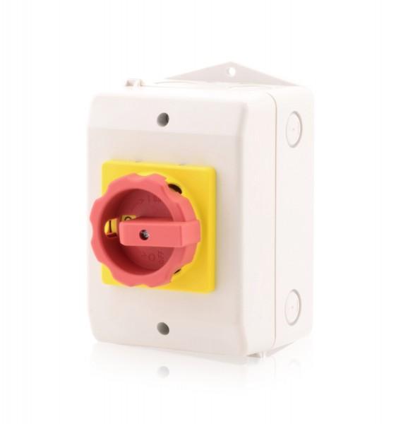 Hauptschalter im Gehäuse Lasttrennschalter 3-polig 32A Reparaturschalter Not-Aus-Schalter Premium Ve