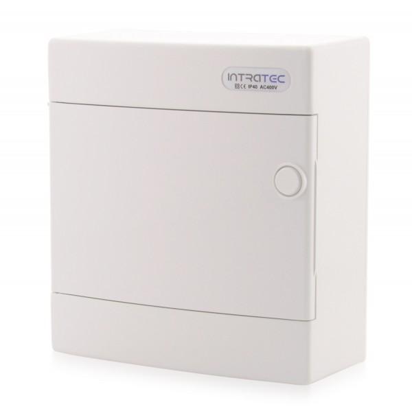 Verteilerkasten Aufputz Sicherungskasten 1-reihig Aufputz 8TE IP40 weiße Tür
