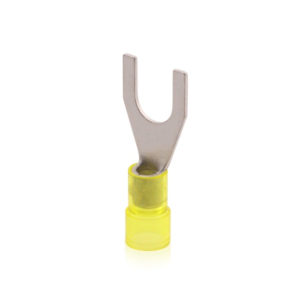 Gabel-Kabelschuh Quetschkabelschuh isoliert, Gelb 2,5-6,0qmm, M4 Kupfer galvanisch verzinnt