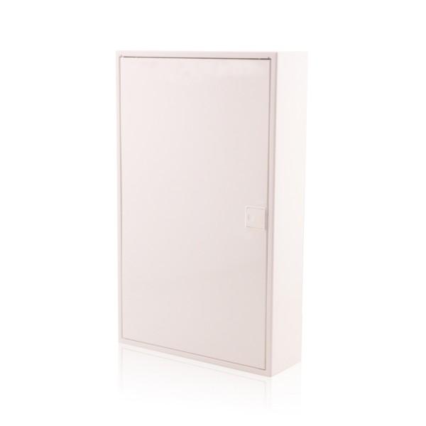 Sicherungskasten Aufputz, 3-reihig, für 36 Module, IP40, Weiße Tür, ALFA