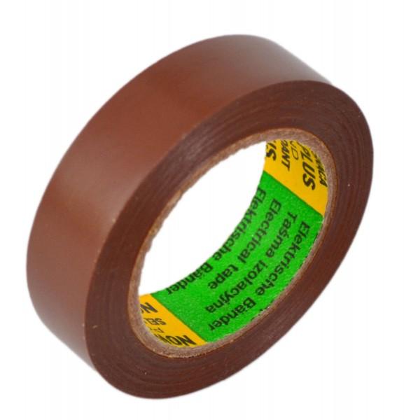 Isolierband 1 Rolle Isoband Elektriker Klebeband 10m x 15 mm braun