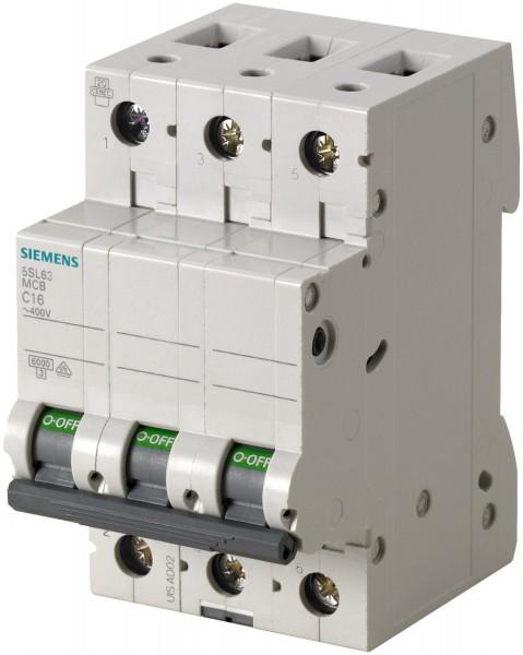 Siemens 5SL6316-7 Sicherungsautomat C 16A 3-polig 6KA 400V