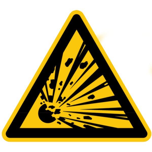 Warnzeichen Warnung vor explosionsgefährlichen Stoffen Sicherheitsschild Warnschild 200mm aus selbst