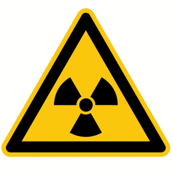 Warnzeichen Warnung vor radioaktiven Stoffen Sicherheitsschild Warnschild 200mm aus selbstklebendem