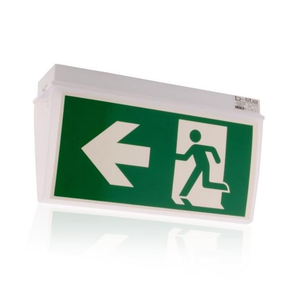 Notleuchte Rettungsschild Notausgang Brandschutz LED IP54, für Wand & Deckenmontage, Notlicht 3h/8h
