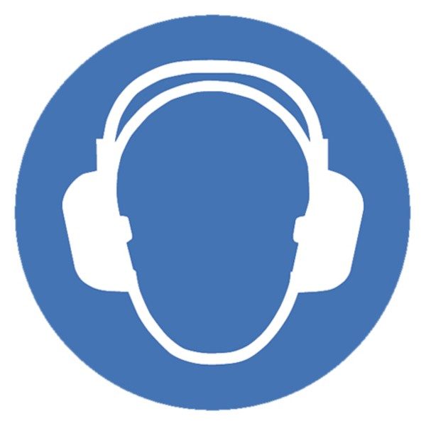 Gebotszeichen Gehörschutz benutzen Sicherheitsschild Warnschild 200mm aus nicht selbstklebendem PVC