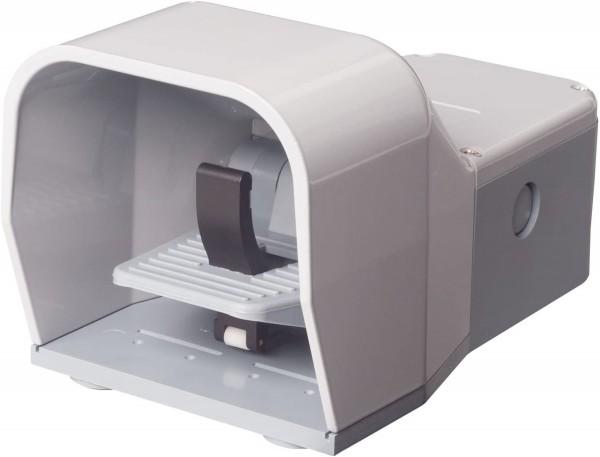 Fußschalter Fußpedal mit Schutzhaube in Grau 2NO+2NC Schleichschalter Metall mit Sicherheitshebel
