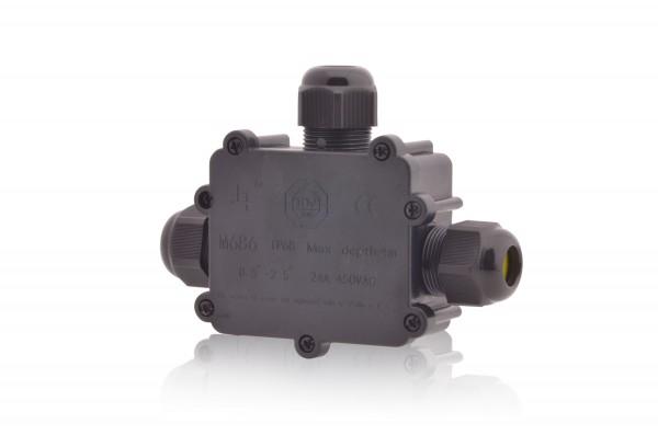 Verteilerdose wasserdicht 4-polig 24A 450V AC Dosenmuffe IP68 Erdkabel