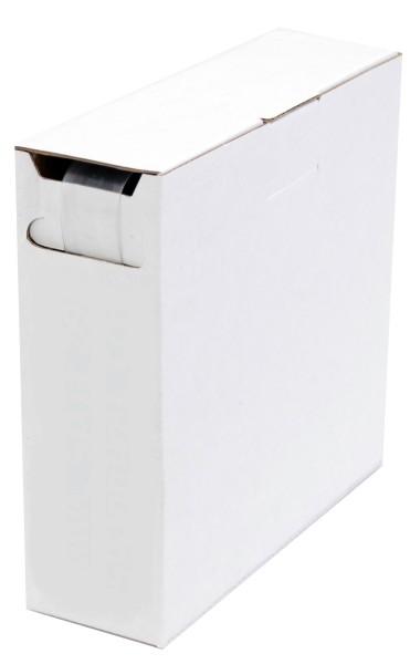 Schrumpfschlauch Isolierschlauch 2:1 (D=6,4mm/d=3,2mm) Länge 12 m Transparent praktische Spender Box