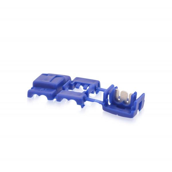 Kabelabzweigklemmen Stromdieb Stromabzweiger Blau W: 20mm L: 49mm