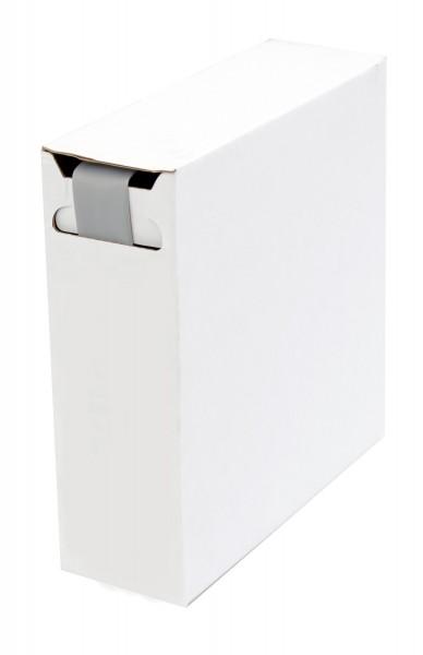 Schrumpfschlauch Isolierschlauch 2:1 (D=19,0mm/d=9,5mm) Länge 5 m Grau in praktischer Spender Box