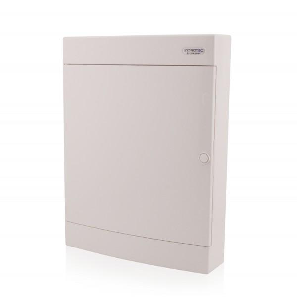 Sicherungskasten Aufputz 3-reihig für 54 Module IP40 weiße Tür