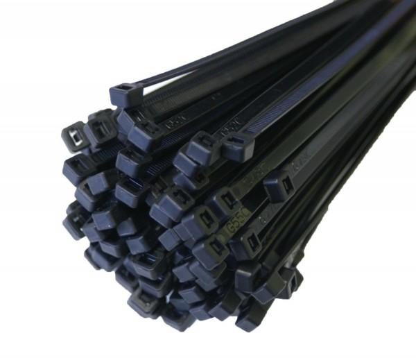 Kabelbinder Kabelschelle Halogenfrei 368x7,6mm Schwarz 100 Stück JSKB36876-S