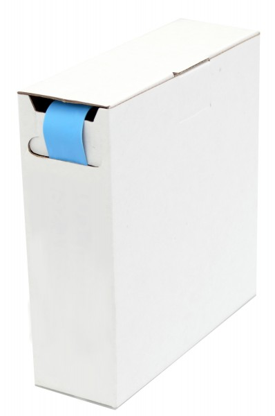 Schrumpfschlauch Isolierschlauch 2:1 (D=2,4mm/d=1,2mm) Länge 15 m Blau in praktischer Spender Box