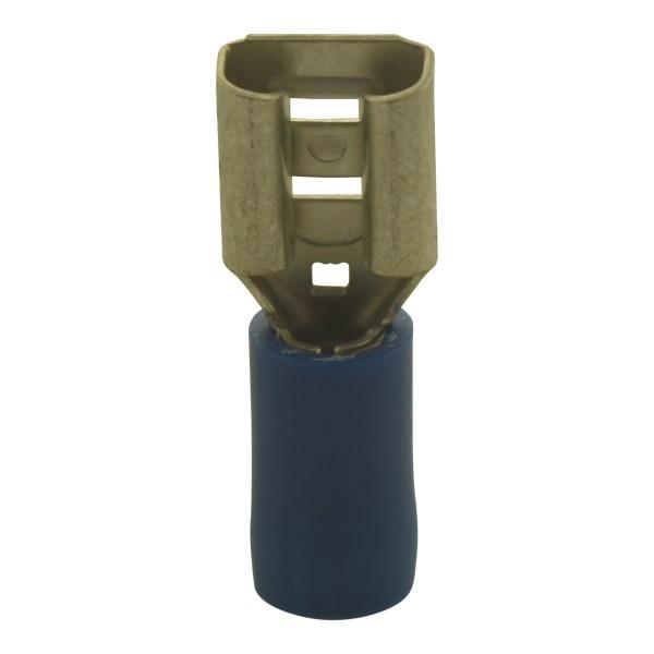 Flachsteckhülsen Kabelschuhe Breite:4,8mm, Steckdicke:0,8mm, Nenngröße:2,5mm², Blau