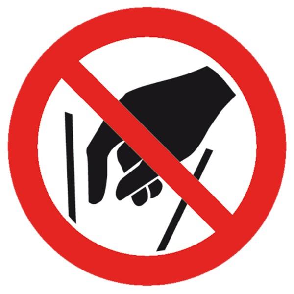 Verbotszeichen Nicht hineingreifen Sicherheitsschild Verbotsschild 100mm aus selbstklebendem PVC Bet