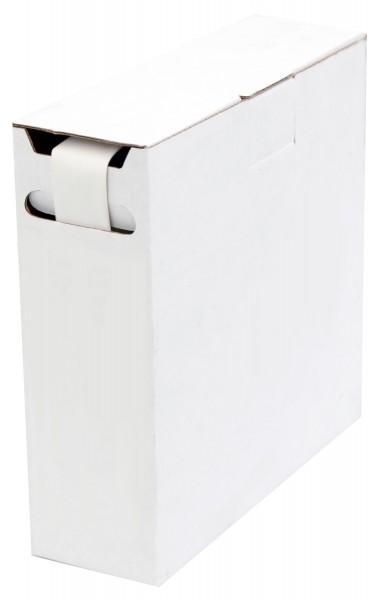 Schrumpfschlauch Isolierschlauch 2:1 (D=19,0mm/d=9,5mm) Länge 5 m Weiß in praktischer Spender Box