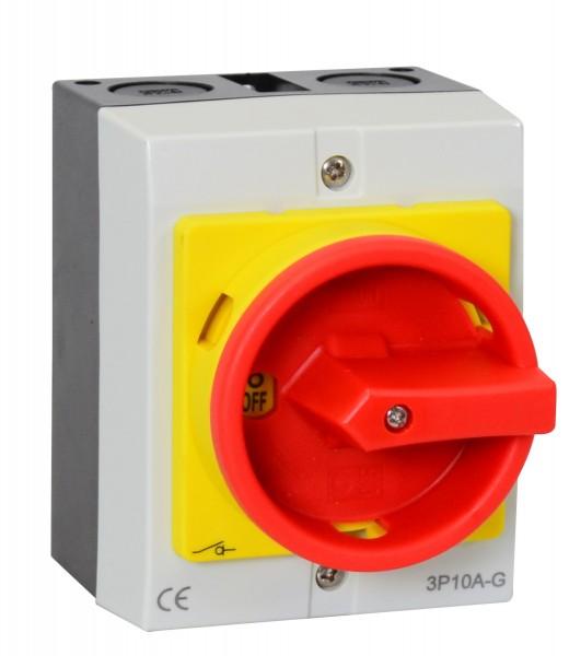 Hauptschalter 16A 4-polig im Gehäuse, Reparaturschalter JS4P16A-G