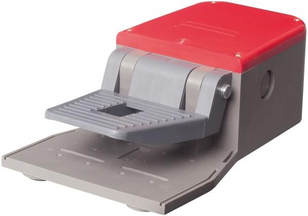 Fußschalter Fußpedal mit Abdeckung in Rot 1NO+1NC Schleichschalter Kunststoff ohne Schutzeinrichtung