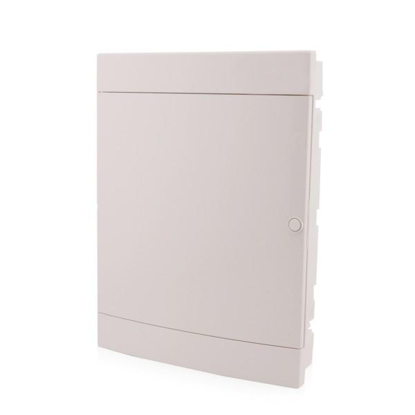 Sicherungskasten Unterputz 3-reihig für 54 Module IP40 weiße Tür