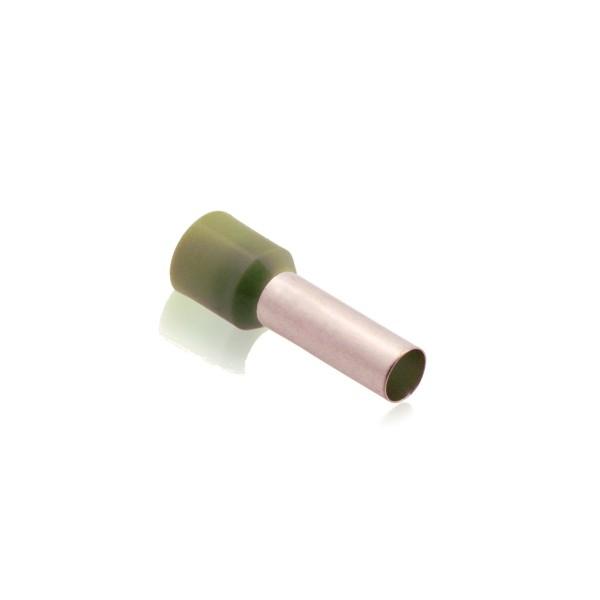 Aderendhülsen isoliert mit Kunststoffkragen DIN 50,00mm² Hülsenlänge 25,0mm Oliv
