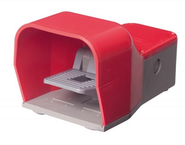 Fußschalter mit Schutzhaube Rot 2NO+2NC Schleichschalter 2-Stufig Kunststoff ohne Schutzeinrichtung