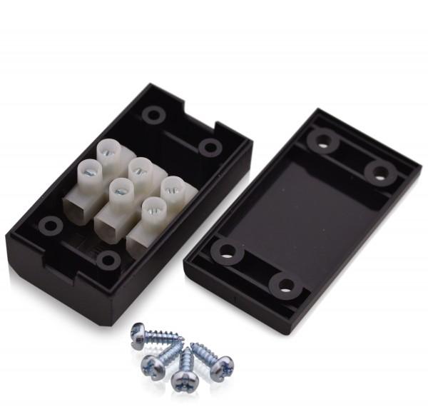 Anschlussdose  Verbinderbox 17,5A 450V T100 Kabelverbinderbox in schwarz