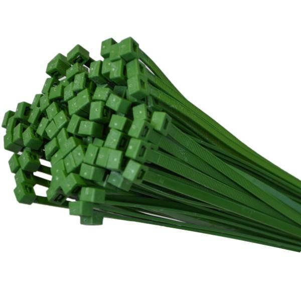Kabelbinder Grün 100 Stk. 280mm x 4,8mm max. Bündel 76mm UV-beständig