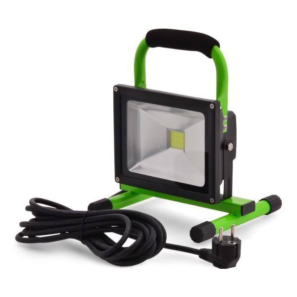 Tragbarer LED Lichtfluter IP65 20W 240V 1600 Lumen Gartenlampe & Baustrahler 6500 Kelvin