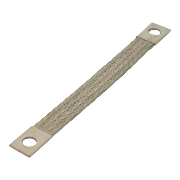 Masseband Querschnitt: 10mm², Länge: 250mm aus flexiblem Kupfergeflecht mit gecrimpten Kontakthülsen