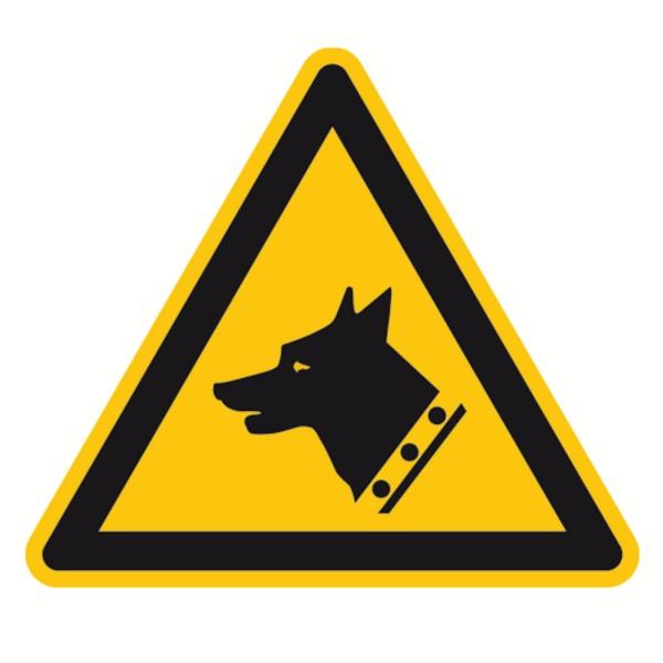 Warnzeichen Warnung vor Wachhund Sicherheitsschild Warnschild 200mm aus nicht selbstklebendem PVC Be