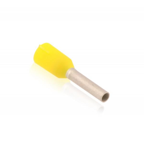 Aderendhülsen isoliert mit Kunststoffkragen Nenngröße DIN 1,00mm² Hülsenlänge 8,0mm Gelb